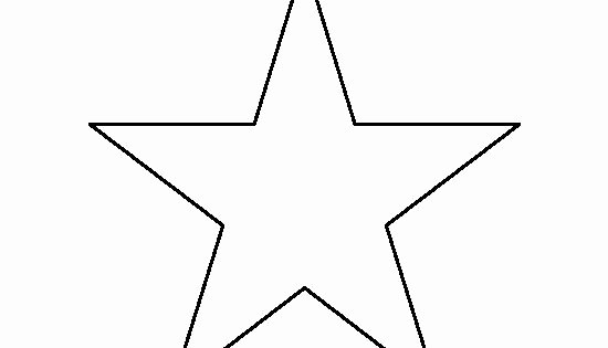 2 Inch Star Stencil Unique 6 Inch Star Pattern Use the Printable Outline for Crafts