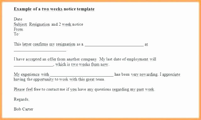 2 Week Notice form Unique Tekprogapp