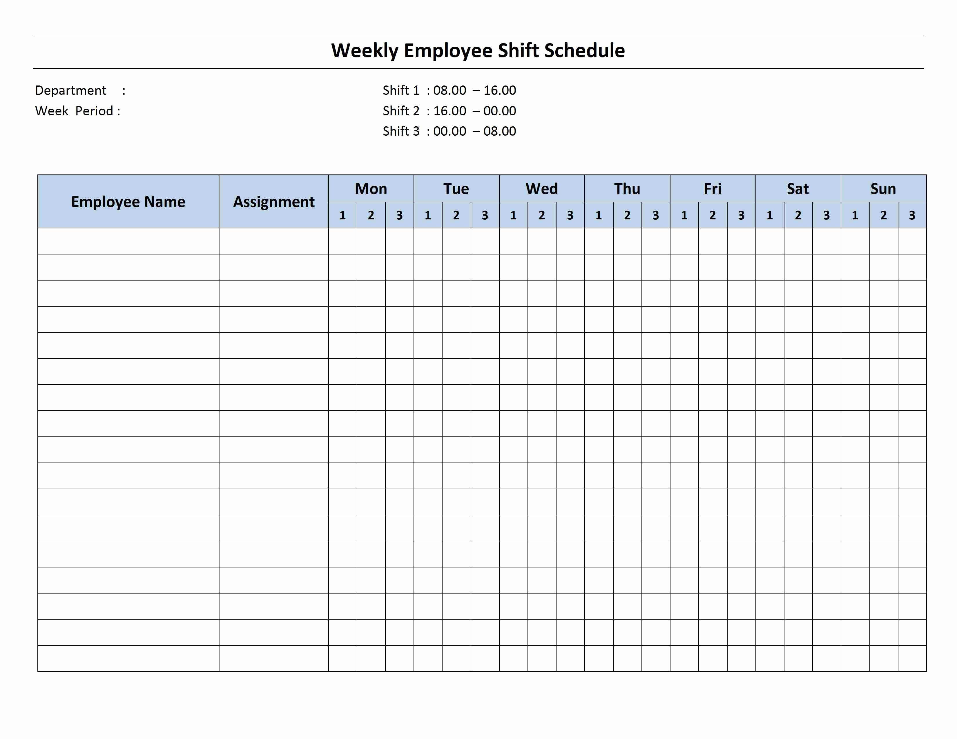24 7 Schedule Template Beautiful 8 Hour Shift Schedule Template