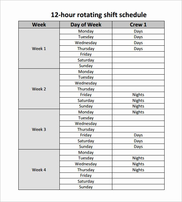 24 Hour Schedule Planner Fresh 24 Hour Shift Schedule Template