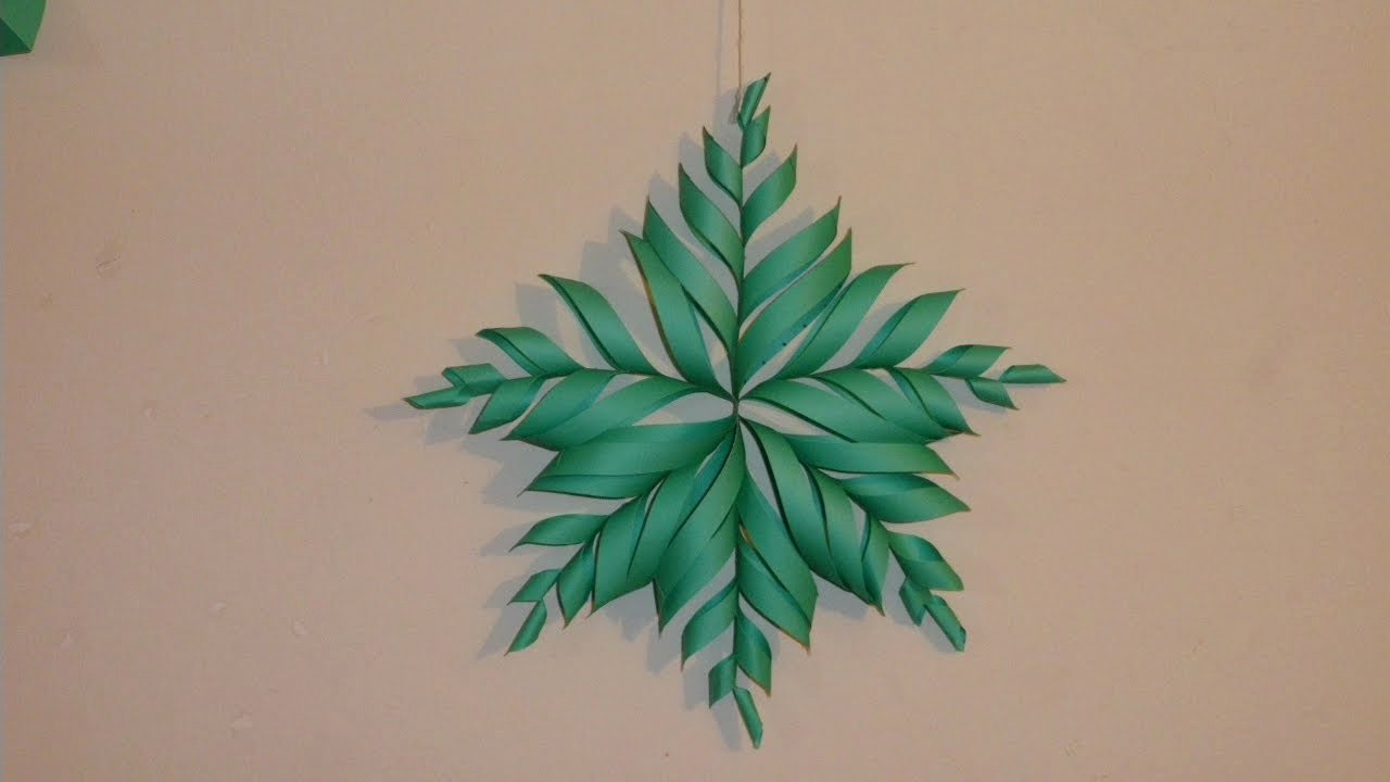 3 D Paper Snowflakes Awesome 3d Snowflake Diy Tutorial How to Make 3d Paper Snowflake