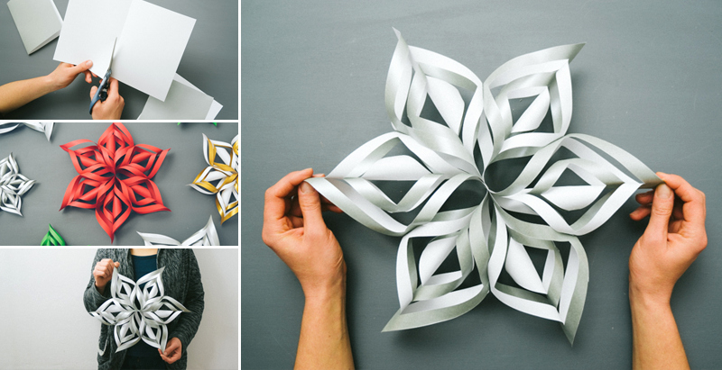 3 D Paper Snowflakes Awesome How to Make 3d Paper Snowflake Diy & Crafts Handimania