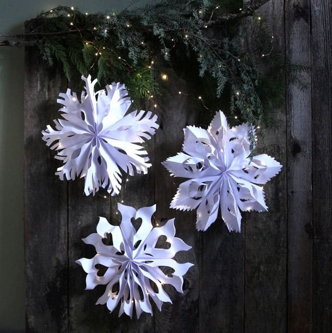 3 D Paper Snowflakes Awesome How to Make Beautiful Paper Snowflakes Kitchen Fun with