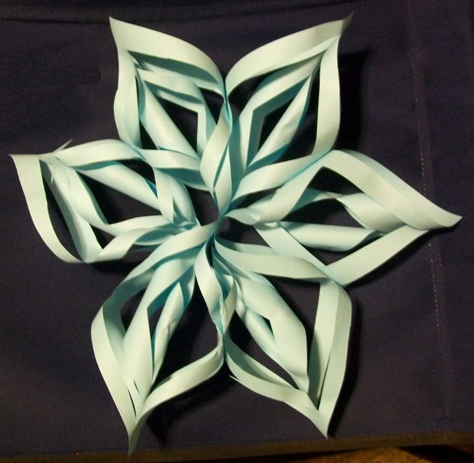 3 D Paper Snowflakes Awesome Learning Crafty 3d Snowflake