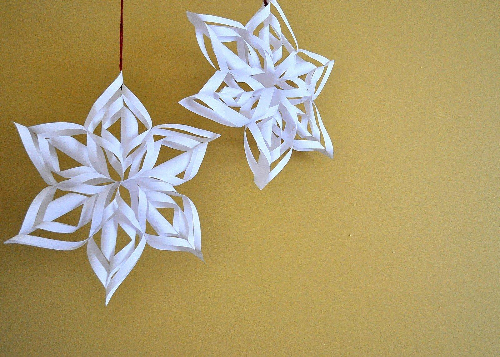 3 D Paper Snowflakes Elegant Weaver Girl Guz Paper Snowflake Tutorial