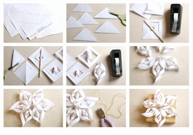 3 D Paper Snowflakes Lovely 20 Diy Christmas Decorations and Crafts Ideas