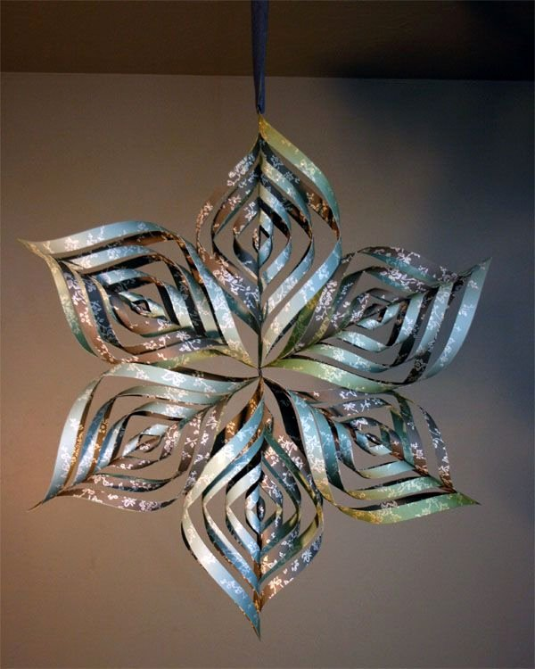 3 D Paper Snowflakes Lovely Paper Snowflake Can Also Make Smaller ornaments Using