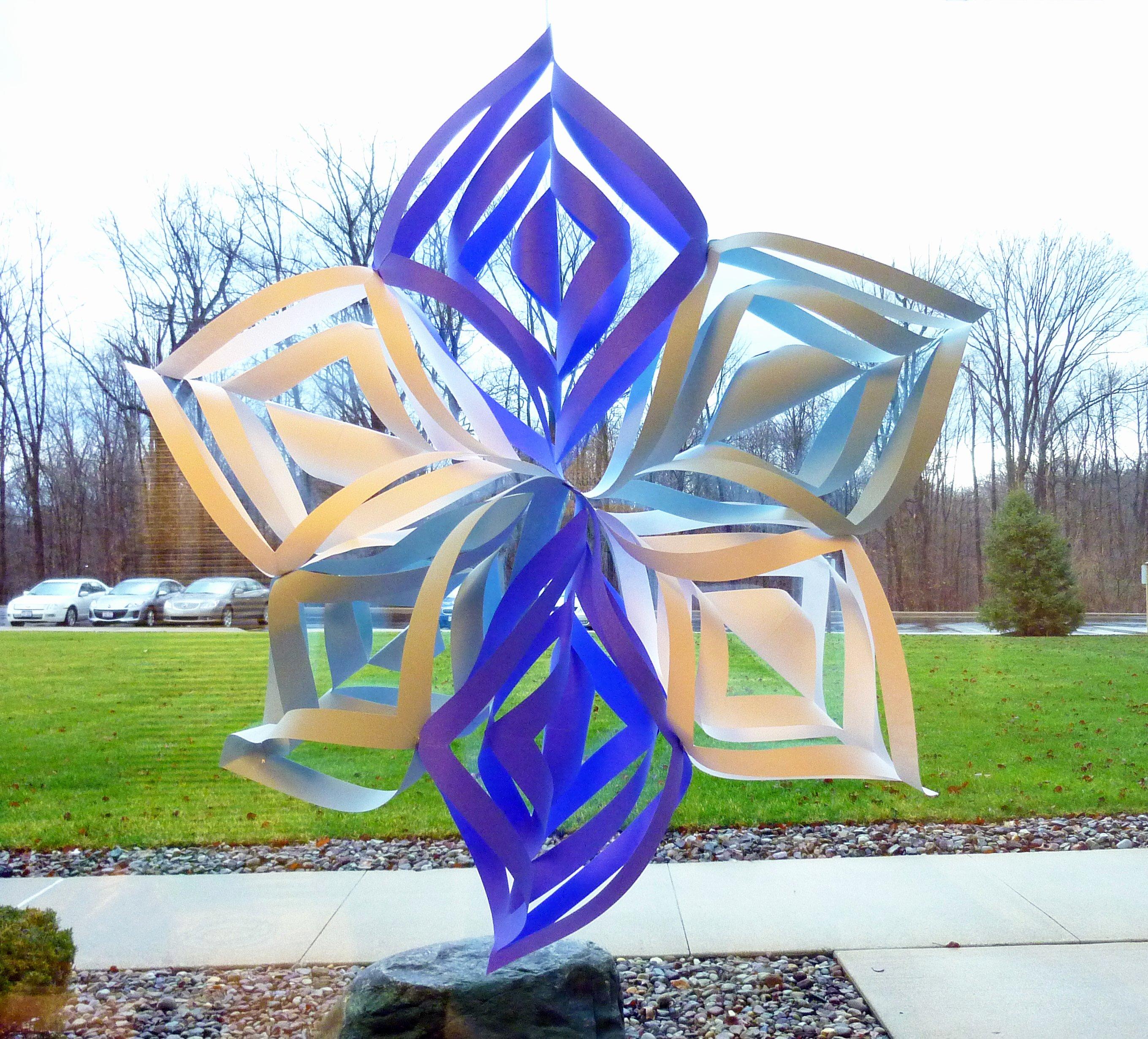 quick winter craft 3 d paper snowflakes
