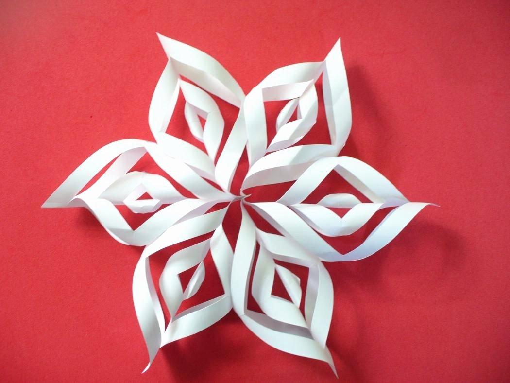3 D Paper Snowflakes New Diy 3d Paper Snowflakes Crafts