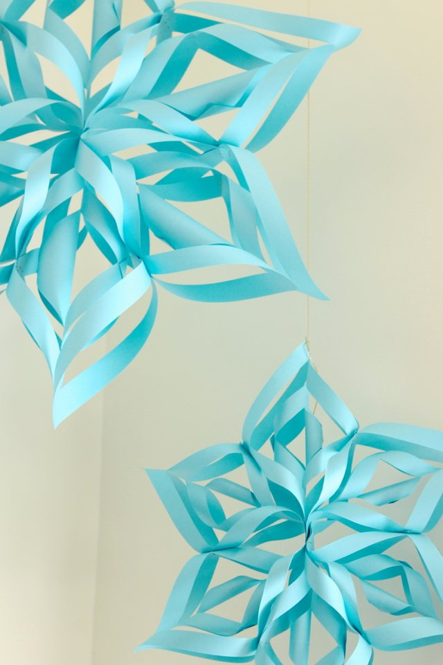 3 D Paper Snowflakes New Ladyface Blog Pretty Paper Snowflakes