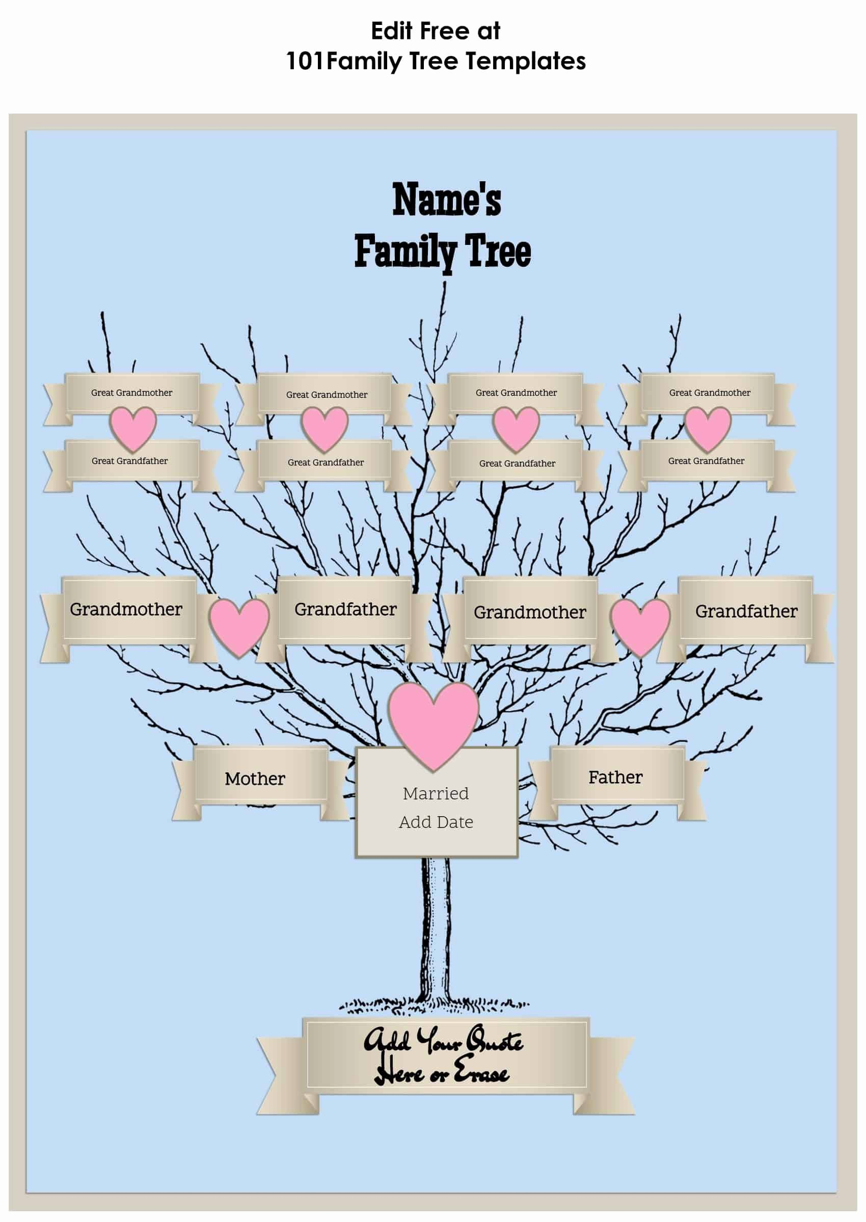 3 Generation Family Tree Awesome 3 Generation Family Tree Generator