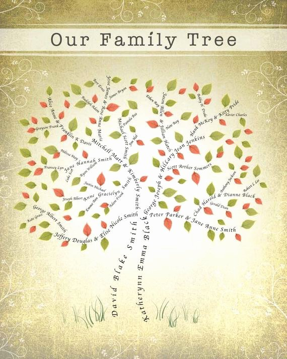 3 Generation Family Tree Inspirational 3 or 4 Generation Family Tree Digital File by Ancestree On