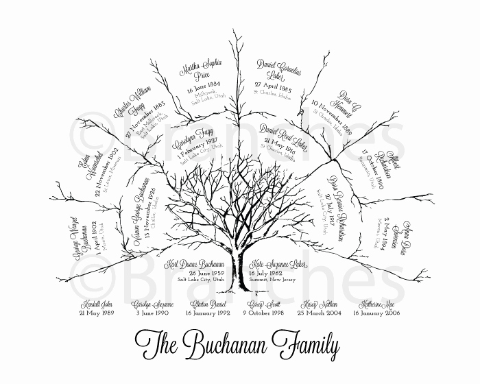 3 Generation Family Tree Inspirational Personalized 3 Generation Ancestor Family Tree Fan Chart