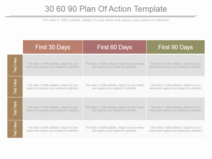 30 60 90 Action Plan Awesome 30 60 90 Day Plan Designs that'll Help You Stay On Track