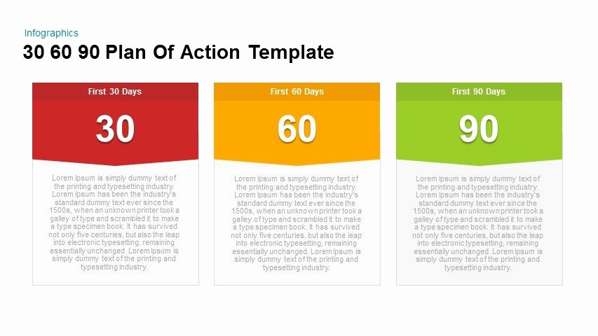 30 60 90 Action Plan Beautiful 30 60 90 Plan Action Powerpoint and Keynote Template