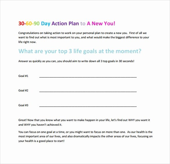 30 60 90 Action Plan Lovely 20 Sample 30 60 90 Day Plan Templates In Google Docs