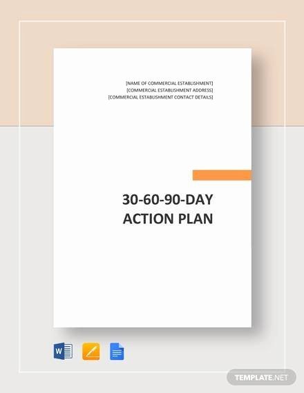 30 60 90 Action Plan Lovely 30 60 90 Day Action Plan 12 Documents In Pdf Word
