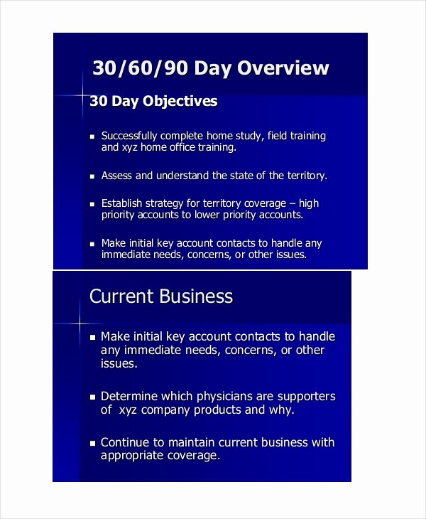 30 60 90 Business Plan Luxury 19 Examples Of 30 60 90 Day Plans Word Pdf