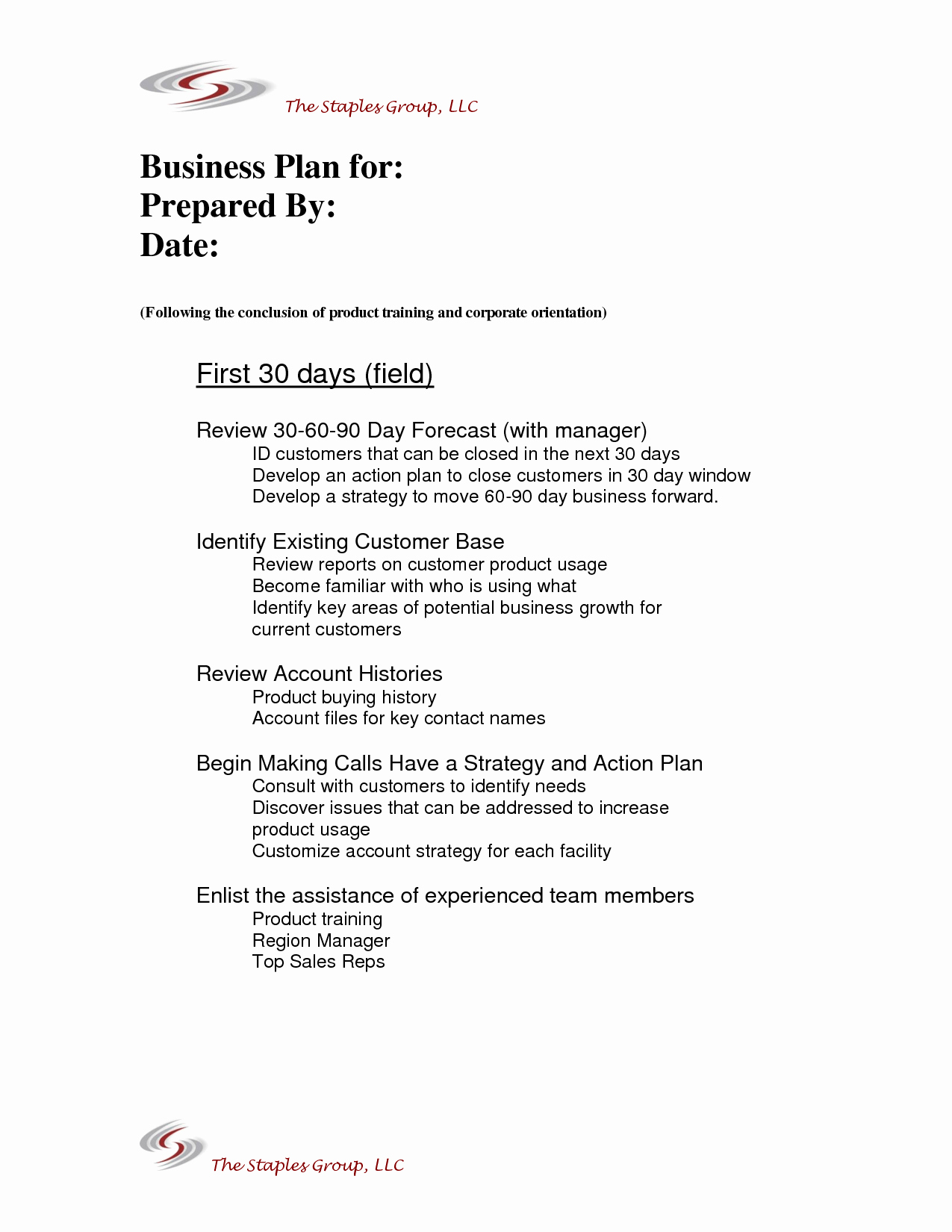 30 60 90 Business Plan New 90 Day Business Plan Template for Interview – 30 60 90