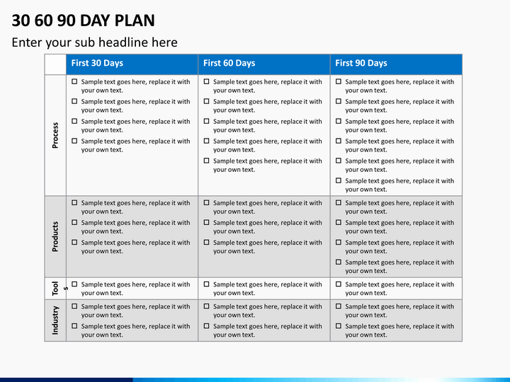 30 60 90 Plan Template Beautiful 30 60 90 Day Plan Powerpoint Template
