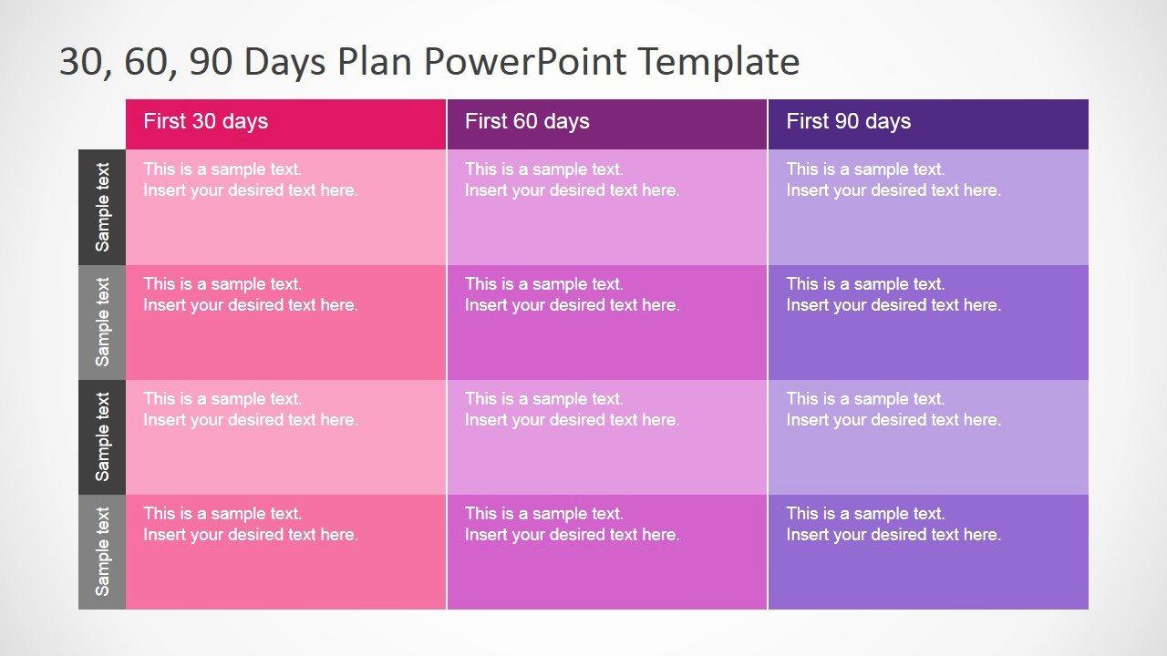 30 60 90 Plan Template Beautiful 30 60 90 Days Plan Powerpoint Template Slidemodel