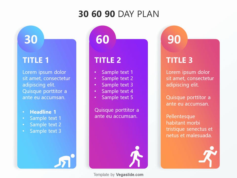 30 60 90 Plan Template Inspirational Refreshing 30 60 90 Day Plan Powerpoint Template Vegaslide