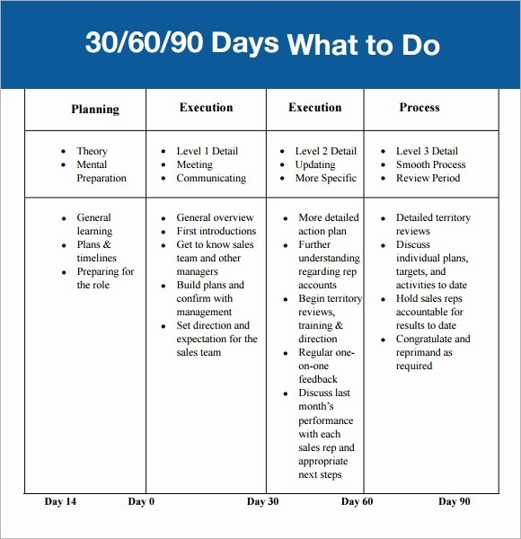 30 60 90 Plan Template Lovely 30 60 90 Day Plan Template 7 Free Download for Pdf