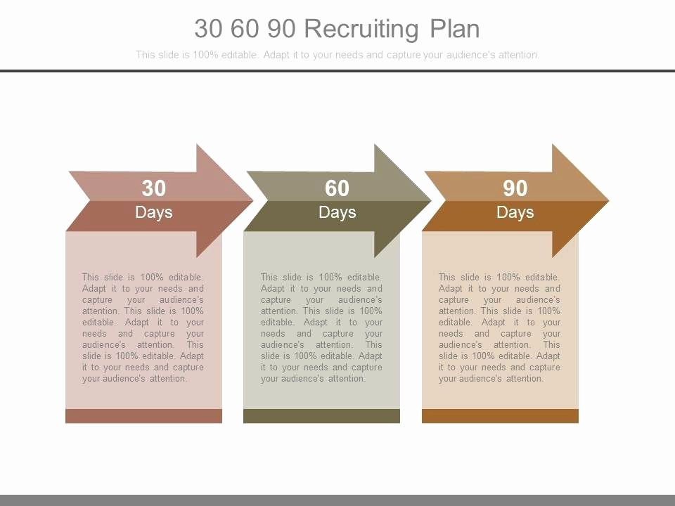 30 60 90 Plan Template New 30 60 90 Recruiting Plan Powerpoint Templates