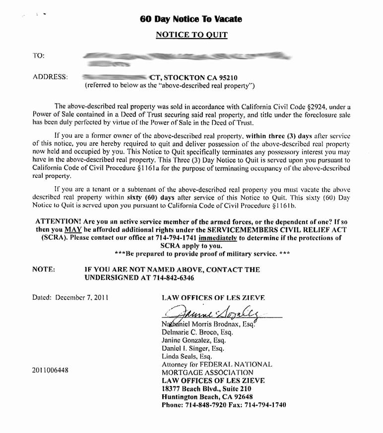 30 Day Notice Sample Best Of Tenant 30 Day Notice to Vacate