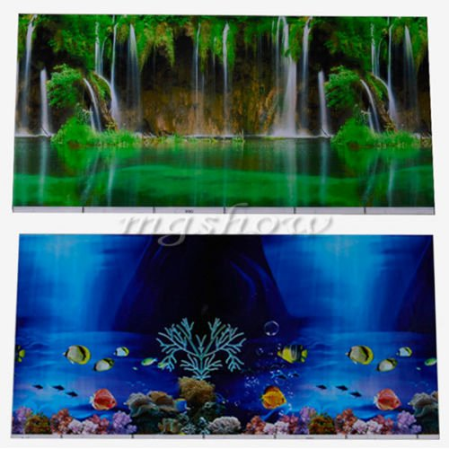 30 Gallon Fish Tank Background Best Of Double Sided Aquarium Vivarium Marine Seascape Background