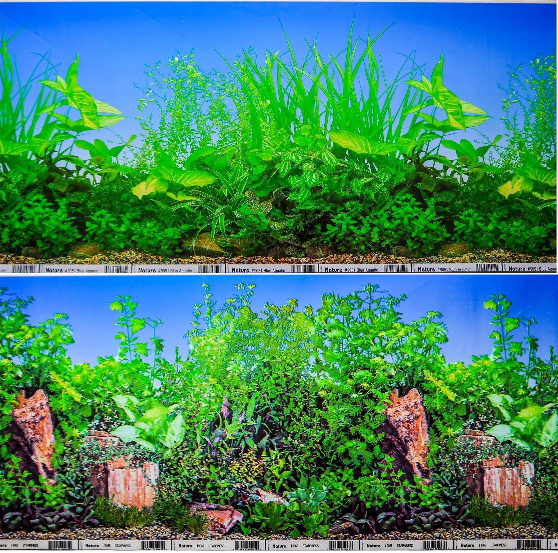 "30 Gallon Fish Tank Background Fresh 12"" Double Sided Aquarium Background Backdrop Fish Tank"