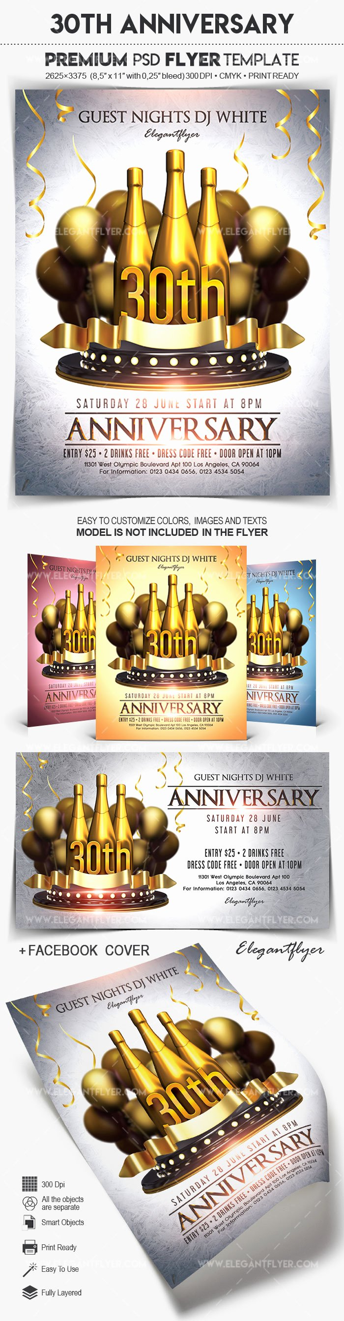 30th Birthday Poster Templates Inspirational 30th Anniversary – Flyer Psd Template – by Elegantflyer