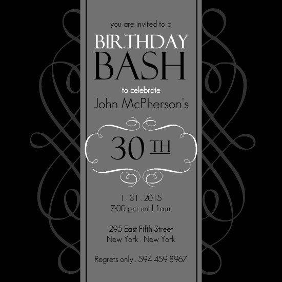 30th Birthday Poster Templates New 30th Birthday Invitations Templates Free