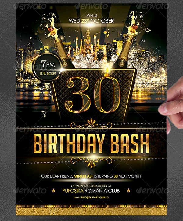 30th Birthday Poster Templates Unique 25 Birthday Poster Templates Psd