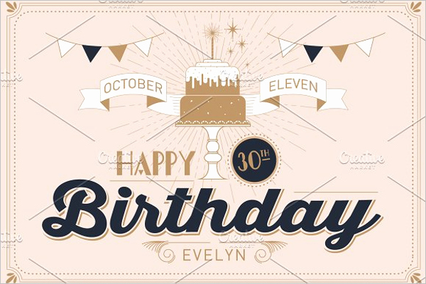 30th Birthday Poster Templates Unique 30th Birthday Banner Template