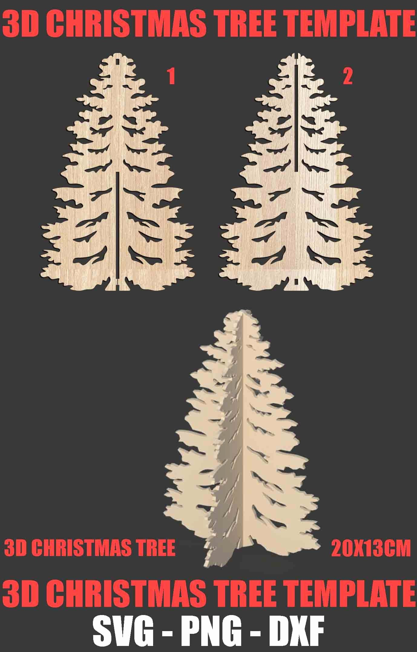 3d Christmas Tree Template Beautiful 3d Christmas Tree ornament Laser Cut Template Svg Dxf