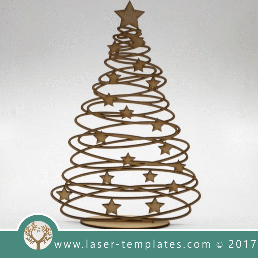3d Christmas Tree Template Beautiful Laser Cut Tree Template Line 3d Vector Design