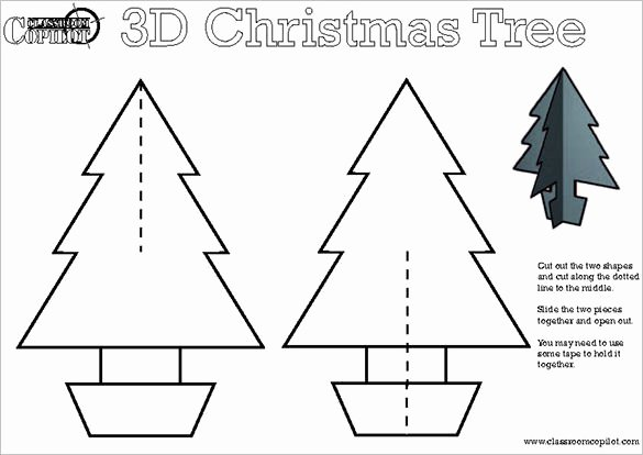 3d Christmas Tree Template Best Of 32 Christmas Tree Templates Free Printable Psd Eps