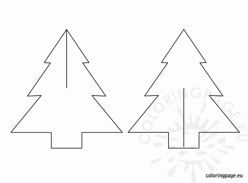 3d Christmas Tree Template Elegant 3d Christmas Tree Template – Coloring Page