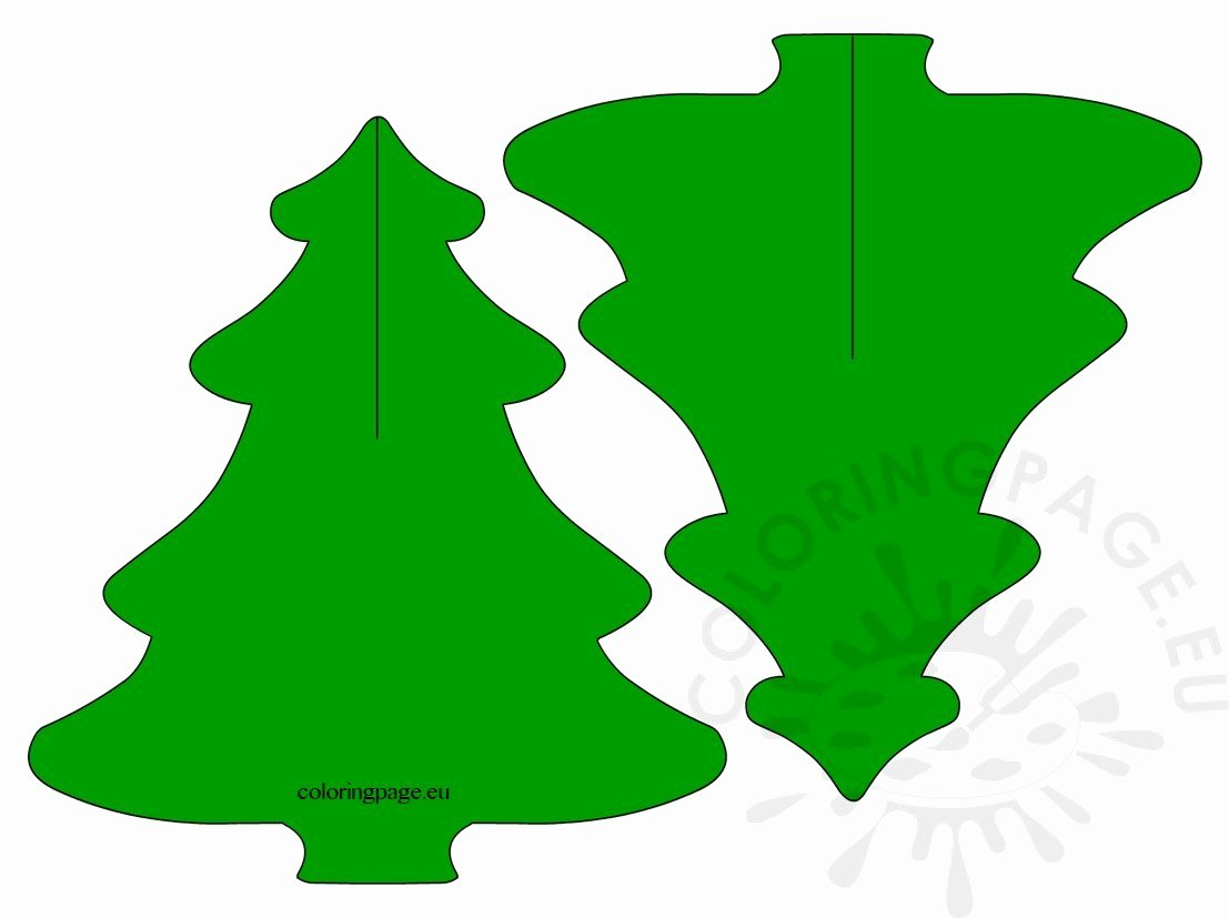 3d Christmas Tree Template Luxury 3d Pine Tree Paper Craft for Kids – Coloring Page