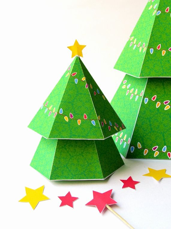 3d Christmas Tree Template Luxury Diy Christmas Tree with T Boxes Printable Papercraft