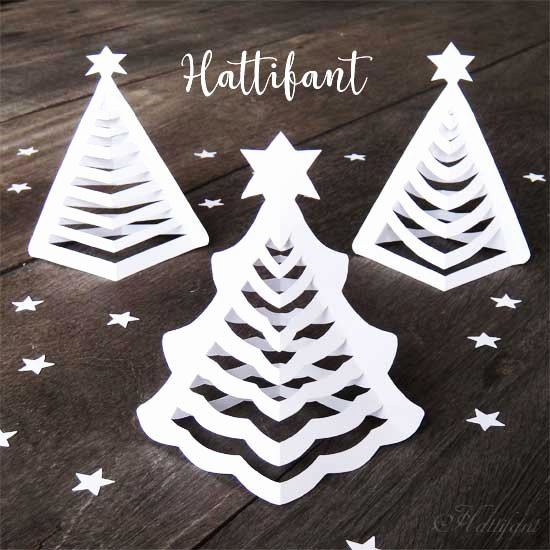 3d Christmas Tree Template Luxury Hattifant S 3d Paper Christmas Trees Hattifant