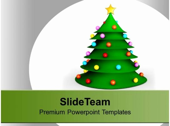 3d Christmas Tree Template New 3d Christmas Tree Festival Powerpoint Templates Ppt themes