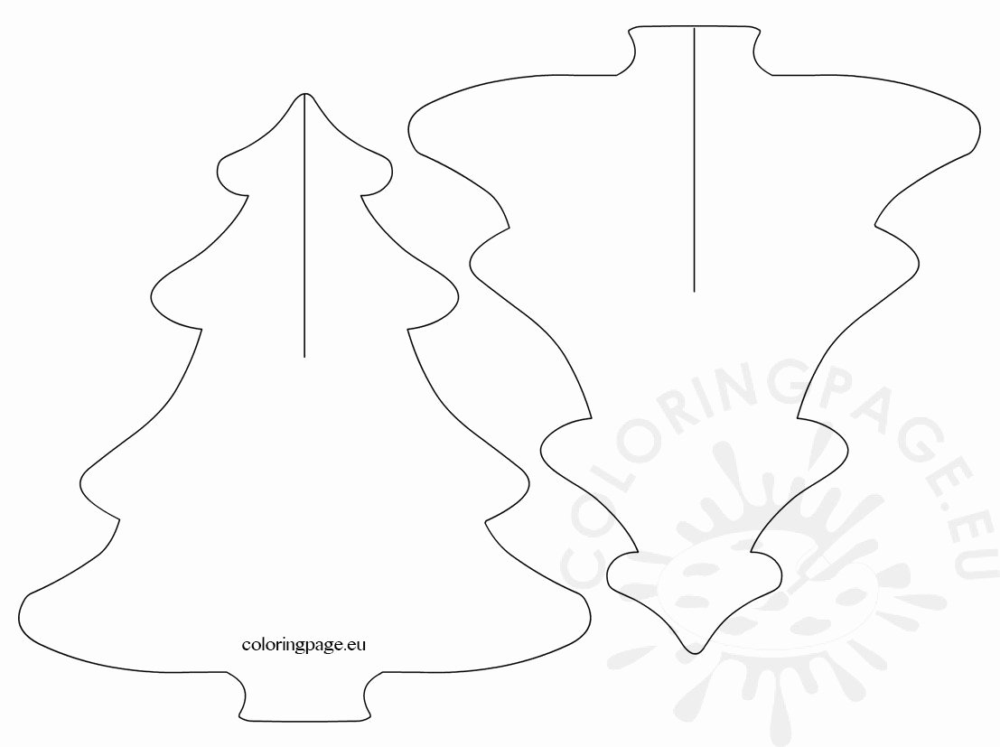 3d Christmas Tree Template New 3d Christmas Tree Templates – Coloring Page