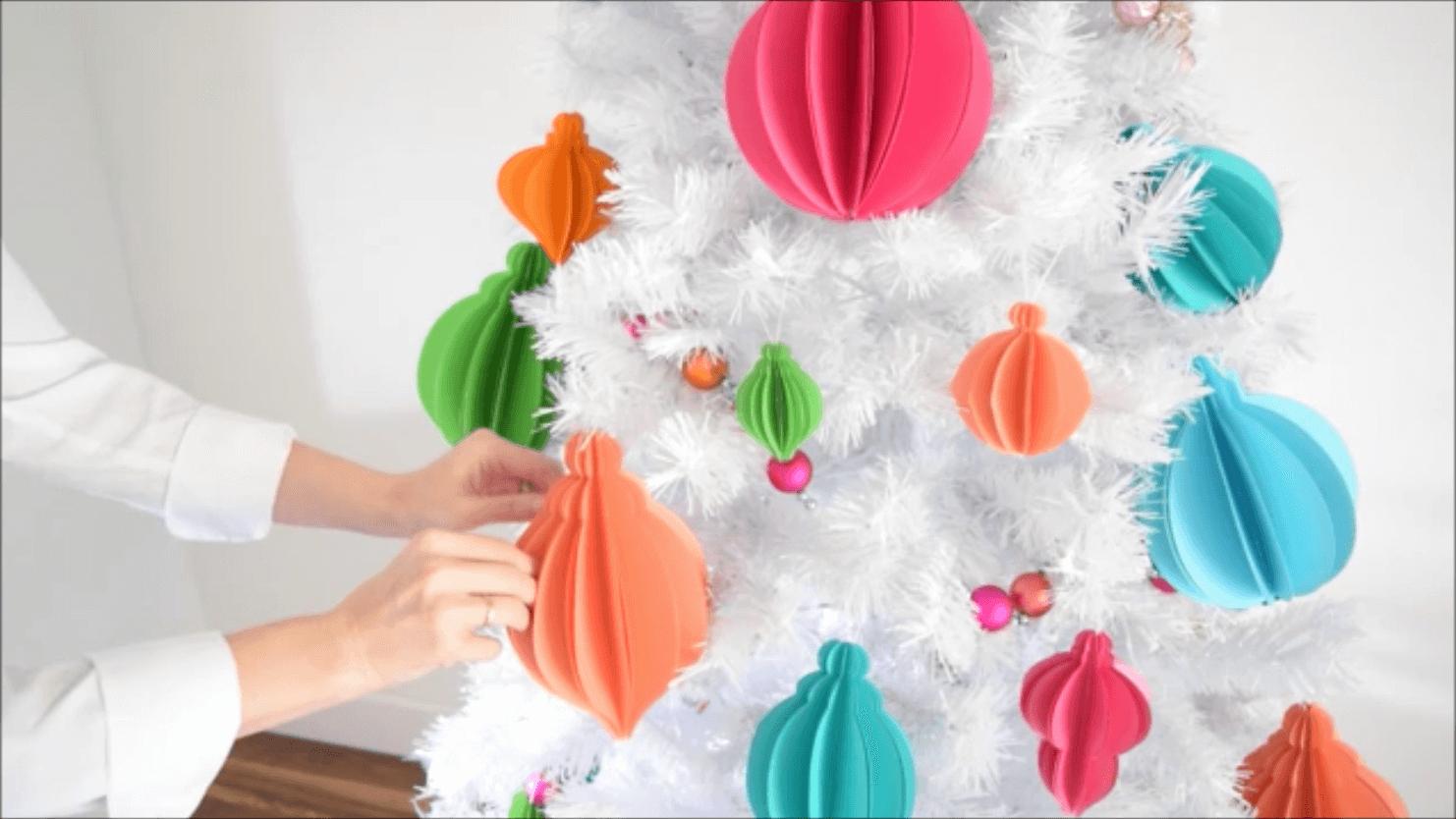 3d Christmas Tree Template Unique 3d Paper Christmas ornaments Easy Tree ornament Templates