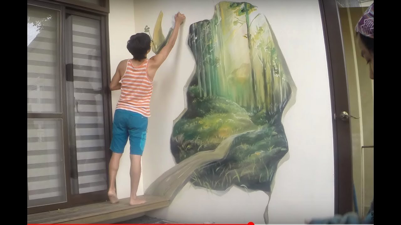 3d Paintings On Wall Beautiful Mural Wall Painting by Picabbo 3d Magic Woods 許漢柏