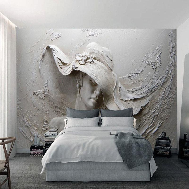 3d Paintings On Wall Inspirational Custom 3d Mural Wallpaper Gray Beauty Modern Abstract Art