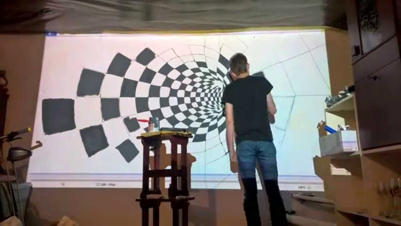 3d Paintings On Wall Luxury Epson 3d Wall Painting Timelapse