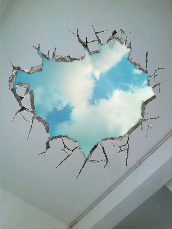 3d Paintings On Wall Luxury Longing for the Sky 3d Surreal Creative Painting