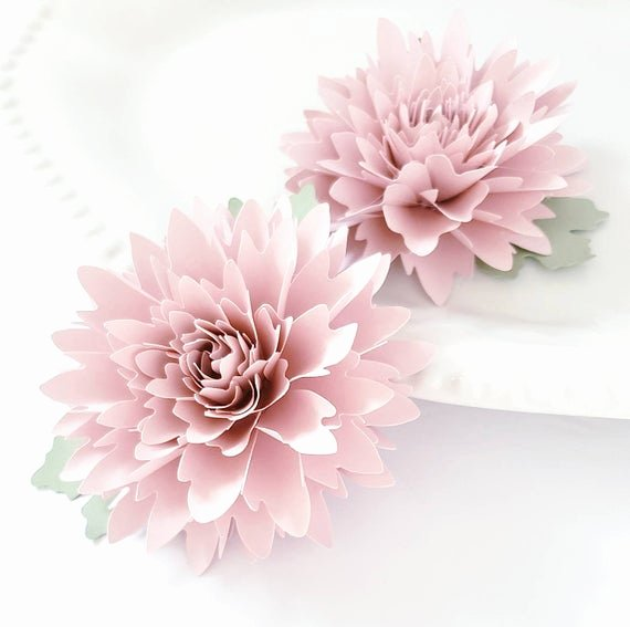 3d Paper Flower Template Beautiful Easy Paper Flower Tutorial Paper Flower Templates